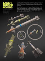 3 Laser Guided Bombs pack 3Ds by djnick2k