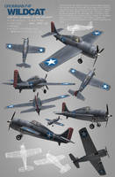 Grumman F4F Wildcat WW2 craft by djnick2k
