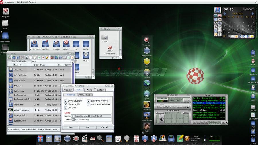 AmigaOS 4.1 skin - alpha version 0.3 by djnick2k
