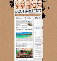 Journaling - custom web site design for a client by djnick2k