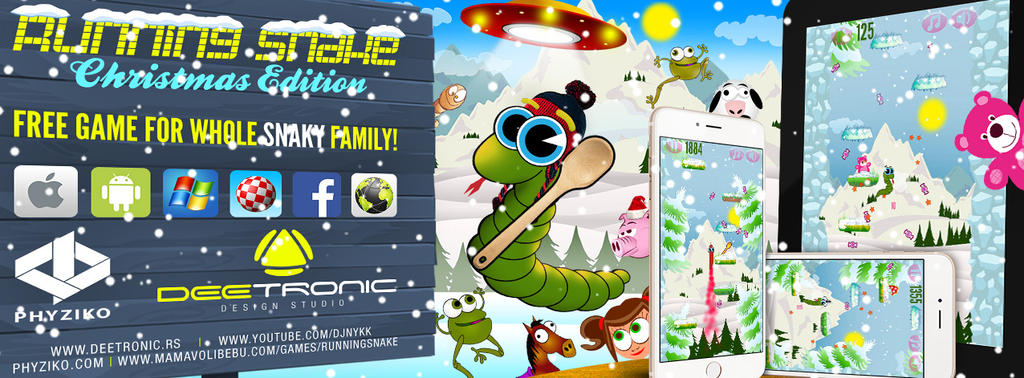 Running Snake - Xmas Edition - 100% FREE GAME by djnick2k on DeviantArt