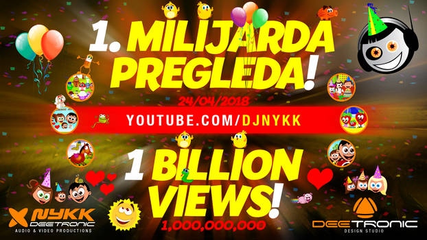 1 BILLION VIEWS on djnykk channel!