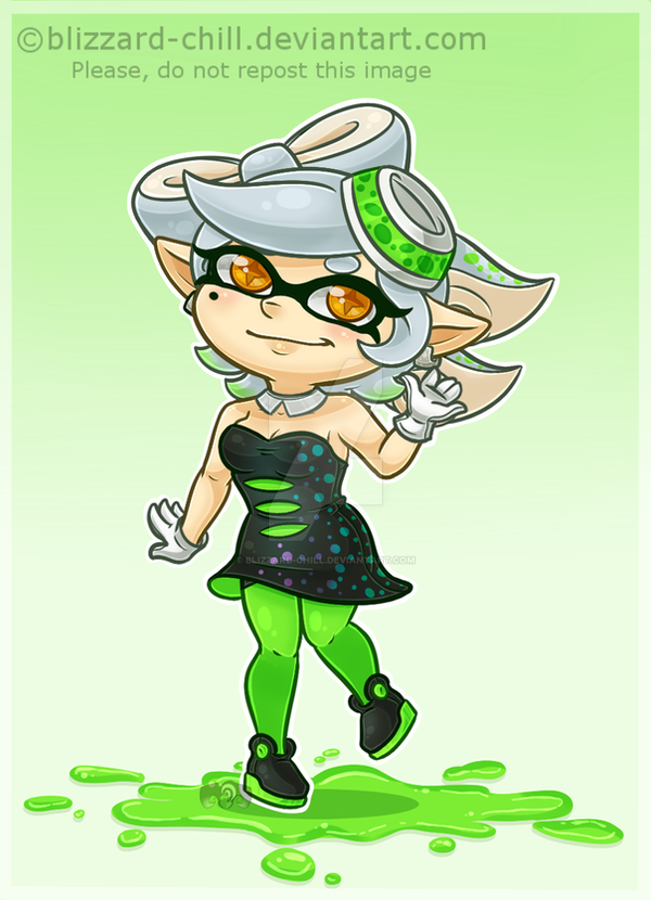 .:Splatoon: Chibi Marie:. by Blizzard-Chill