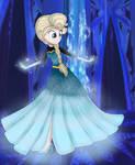 Elsa Let it go transformation