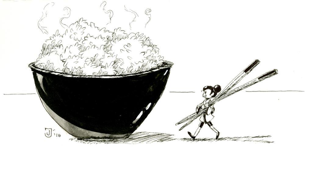 a little bit of rice