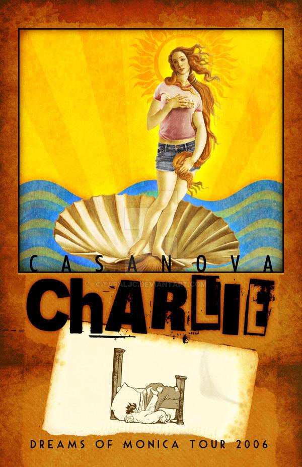 Casanova Charlie tour poster by TaraLJC