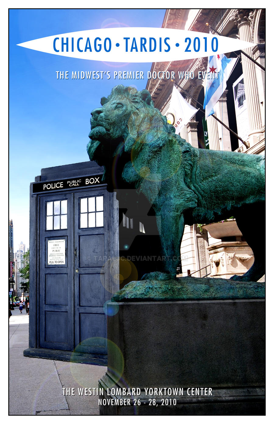 Chicago TARDIS 2010 cover mk1 by TaraLJC