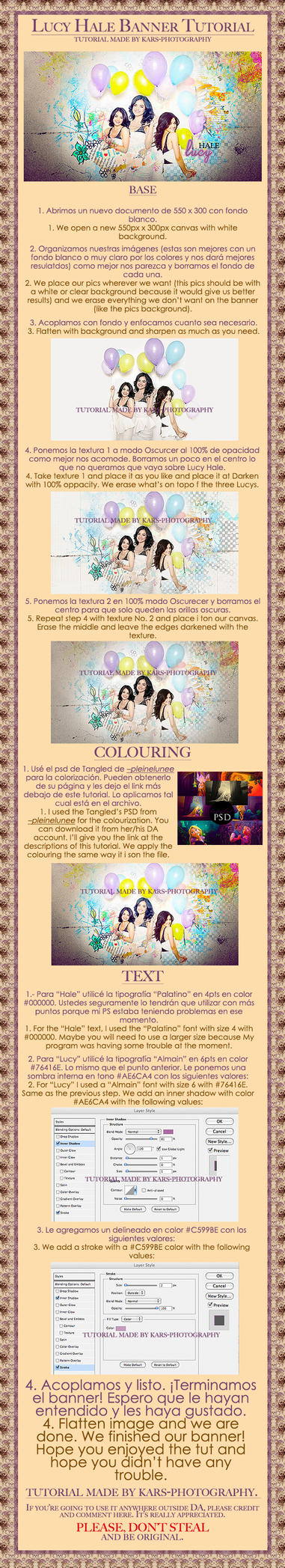 Tutorial Banner Lucy Hale by KarS-Photography