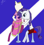 Rarity and her dress
