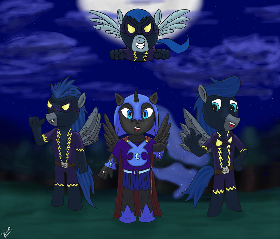 the Nightmare Moon filly's group by gino456 on DeviantArt
