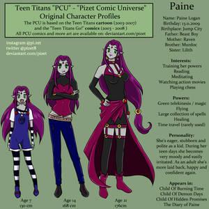 PCU - OC Profile - Paine Logan - TeenTitansNG