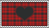 Red checkered X3 Stamp by OhMyRalosh