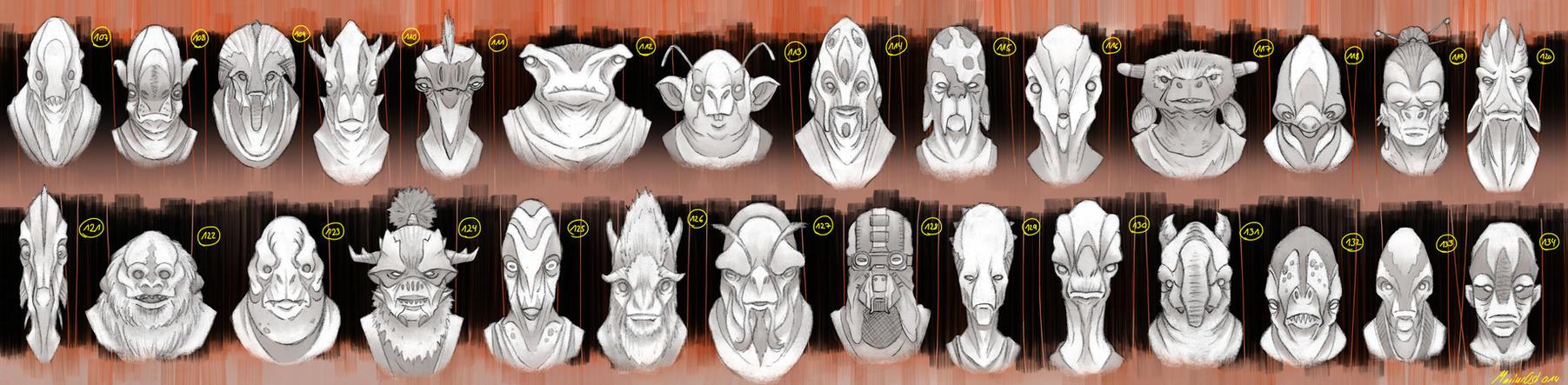 Alien Heads 4 by Kogane801