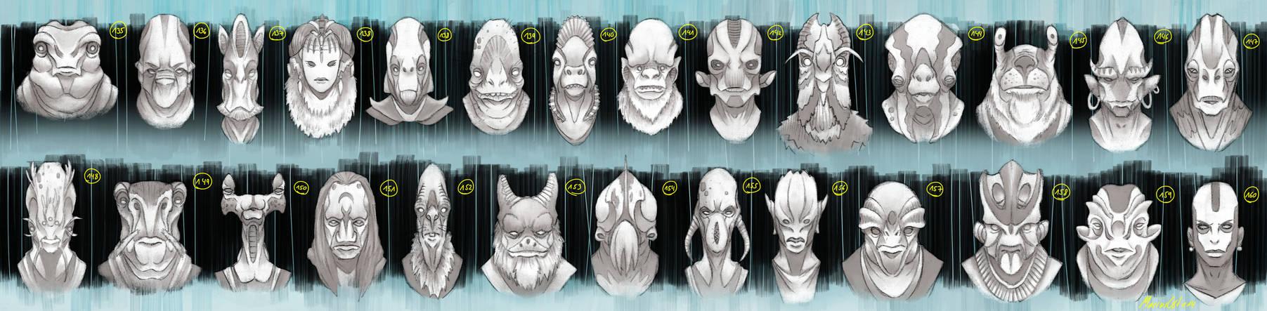 Alien Heads 5