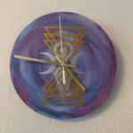 Geometric goddess clock  by xanthnimby