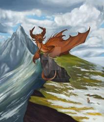 Hello there - Dragon Calendar Illustration