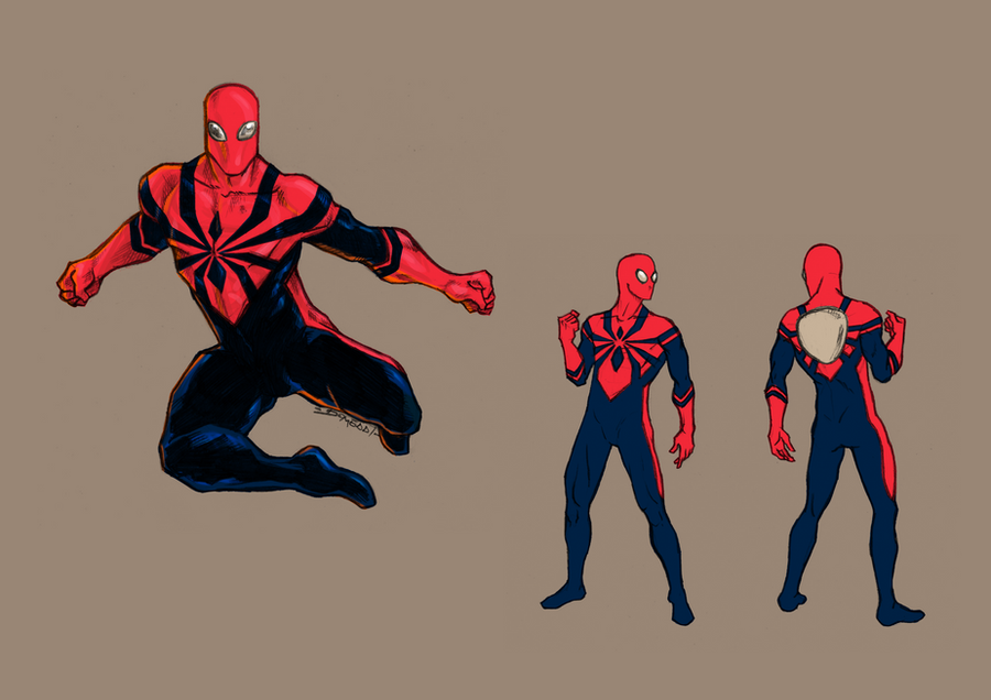 Spider-Man Costume Redisegn by DomEddi on DeviantArt