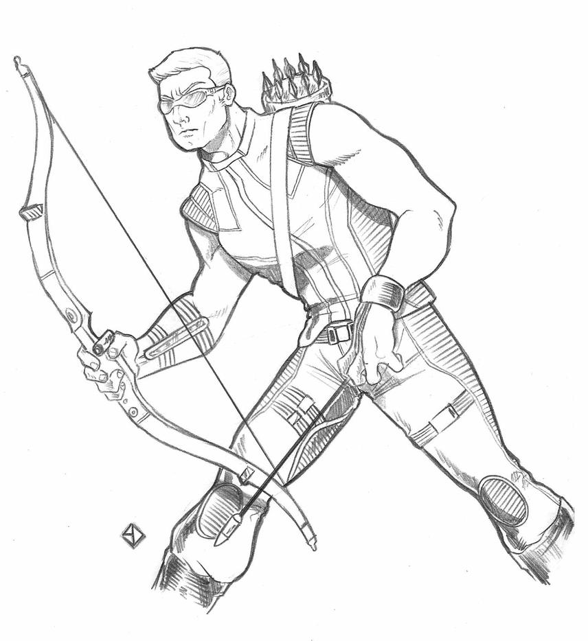 Coloring Pages Hawkeye