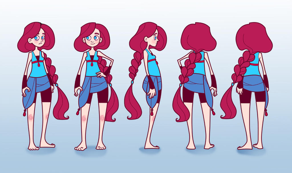 Character Design Girl : Girl character design by red admiral nessa on deviantart