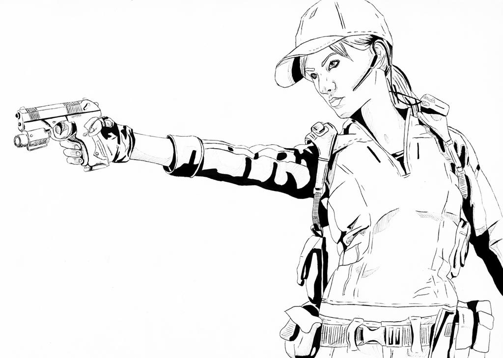 resident evil 5 jill valentine coloring pages | Jill Valentine Line Art by BeignetBison on DeviantArt