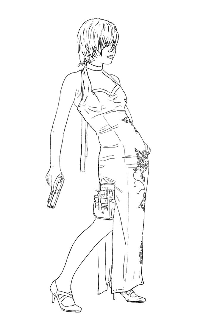 ada wong coloring pages - photo#7