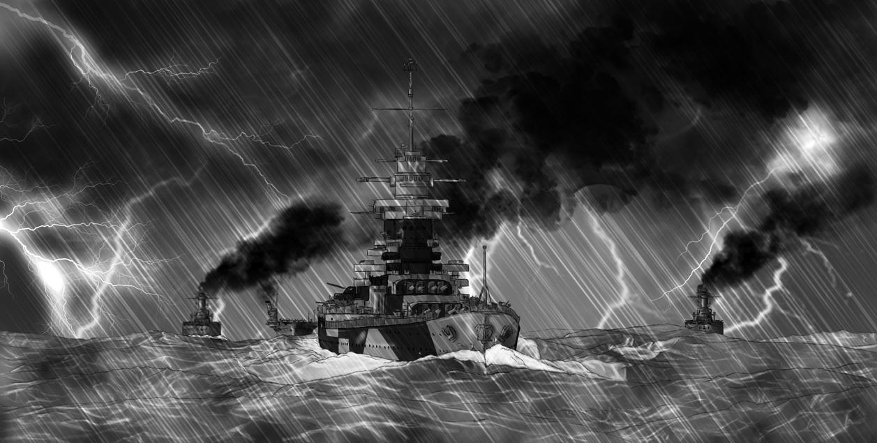 Les illustrations uchroniques de Thomas Richelieu_in_the_storm_by_qsec-d75rf0n