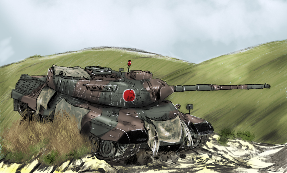 Les illustrations uchroniques de Thomas Jgsdf_leopard1a5_by_qsec-d7thkec