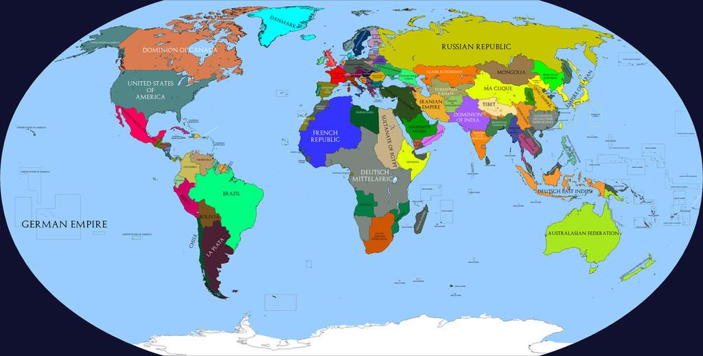 Kaiserreich map HOI4 by BeignetBison