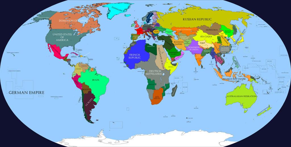 Kaiserreich map HOI4 by BeignetBison on DeviantArt
