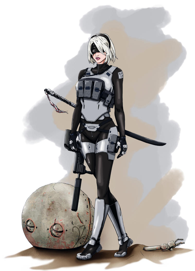 2B redesigned - Nier Automata by BeignetBison