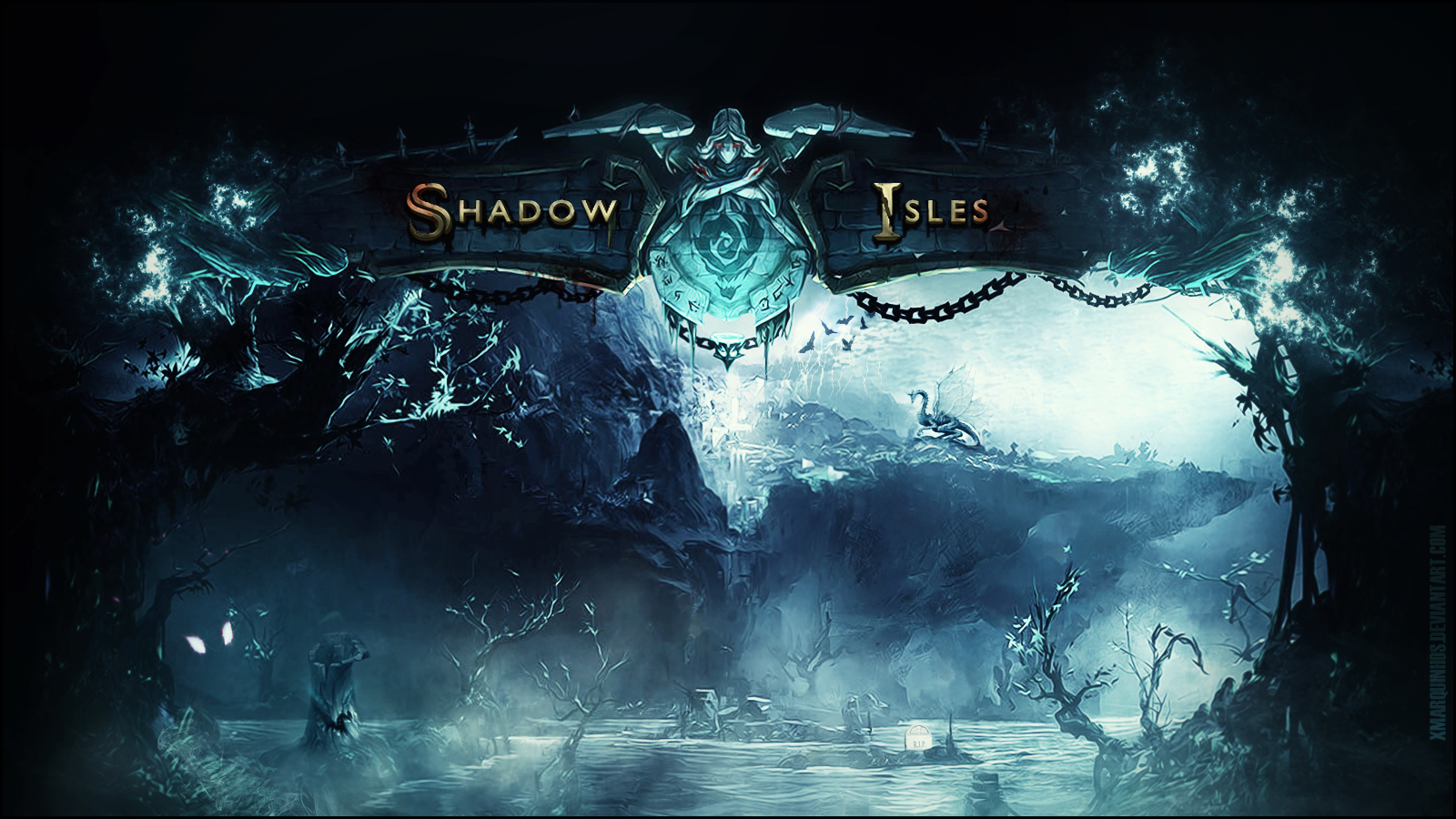 Wallpaper - Shadow Isles - League of Legends by xMarquinhos