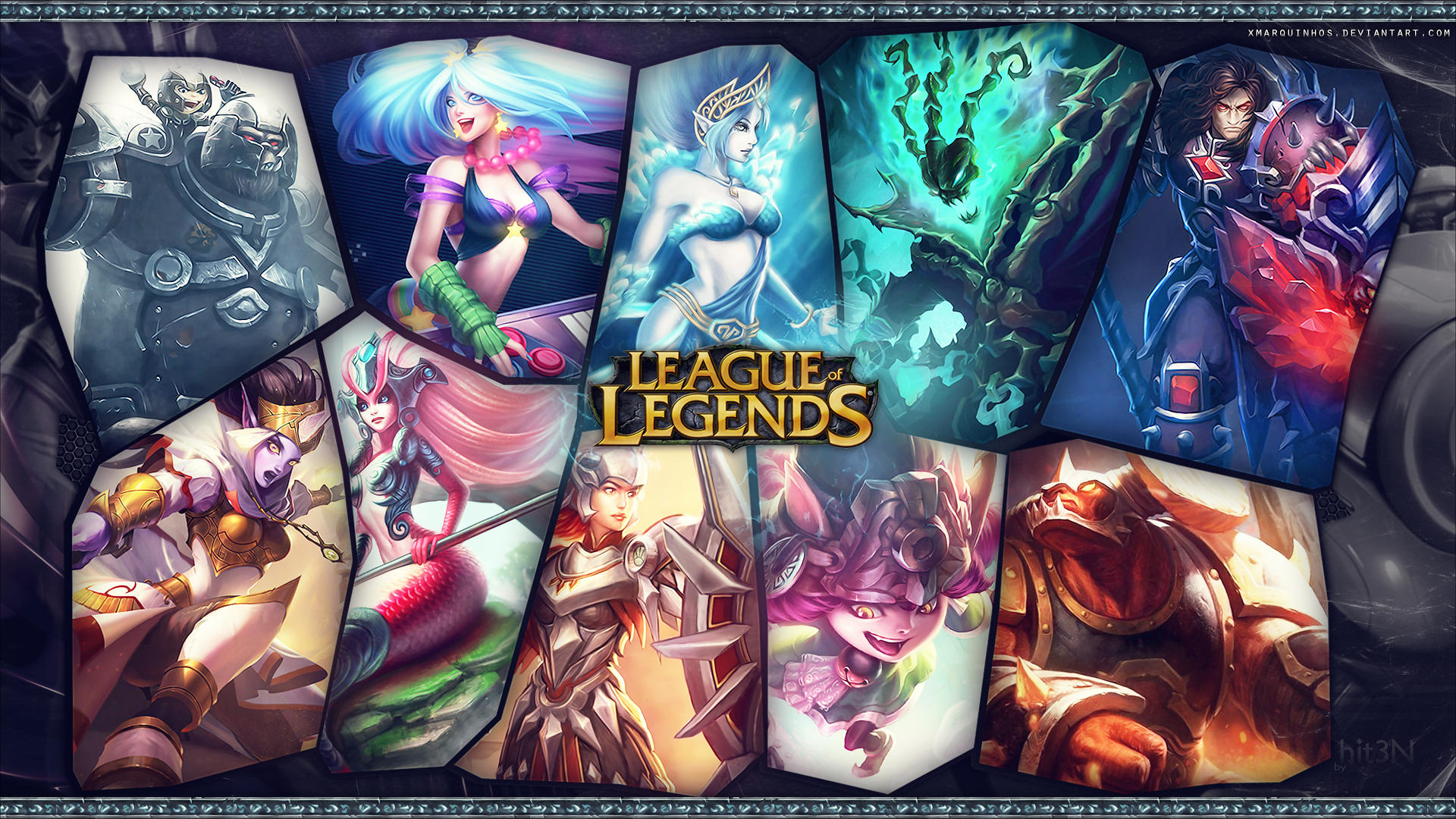 League Of Legends Support Wallpaper2 By Hit3n By Xmarquinhos On