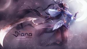 Lunar Goddess Diana - Custom Wallpaper ~ by hit3N