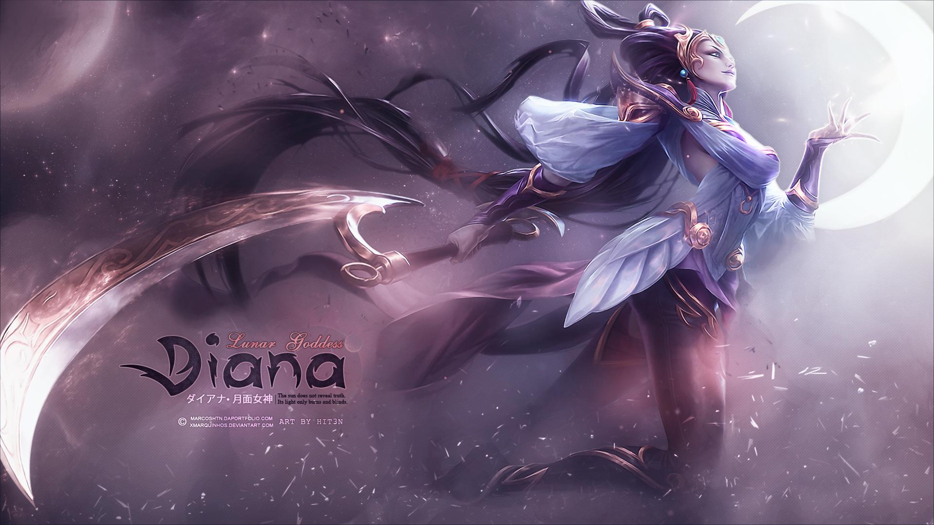 Lunar Goddess Diana - Custom Wallpaper ~ by hit3N by xMarquinhos