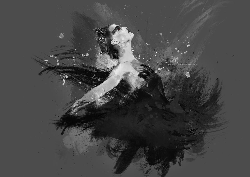 Black Swan Painting Black Swan Painting by