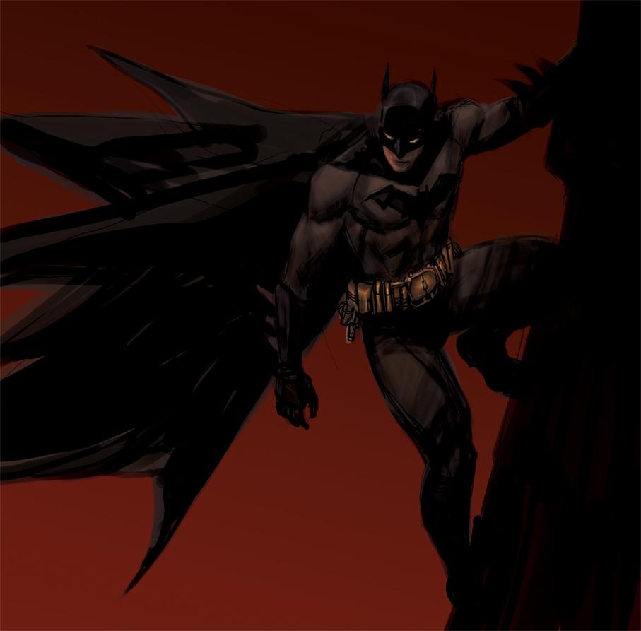 Batman color by dogmeatsausage