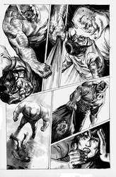 Tales of TMNT 56 casey vs hun by dogmeatsausage