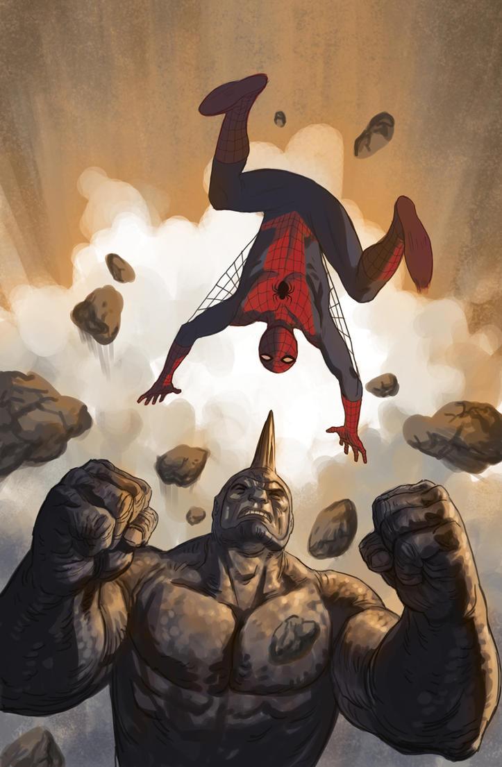 black spiderman vs rhino - photo #23