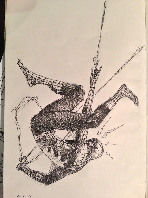 Spidey Sketch by dogmeatsausage