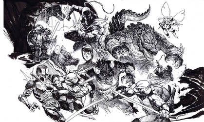 Tmnt Ultimate Monster Island cover Bw