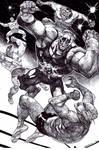 El Zombo vs the wrestlers