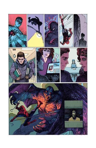 Spider-Man vs Goblin color by dogmeatsausage