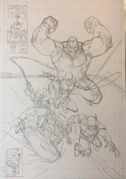 New Fantastic Four commission pencils