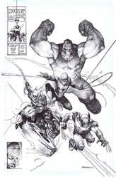 New Fantastic Four Hulk Spidey Ghostrider Wolverin