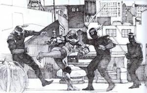 Tmnt movie Raphael vs The foot