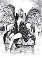 Lonely angel by KayIglerART