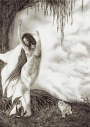 Freya, The Vanir Goddess by KayIglerART