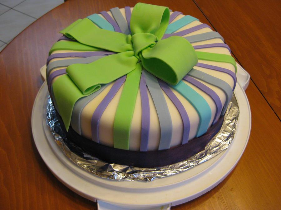 Ribbon Cake by purple-sprinkles