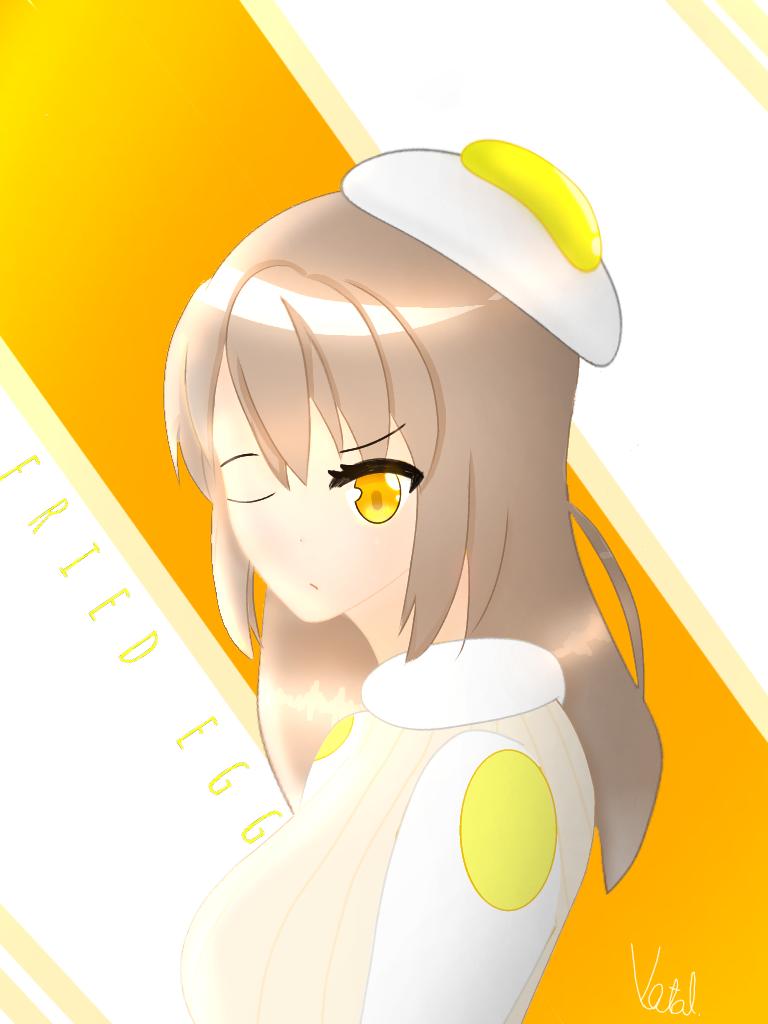 anime them  fried egg