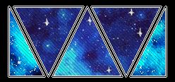 deco divider 005 - blue galaxies